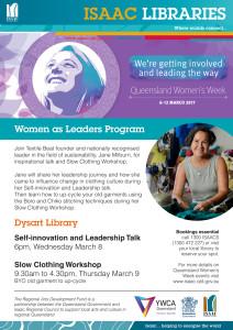 ISAAC LIBRARIES_Dysart Queensland Womens Week_Slow Clothing Workshops web