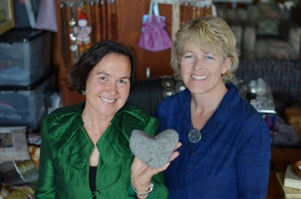 Jane and Ele with heartstone