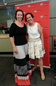 ABC presenter Rebecca Levingston and Jane Milburn