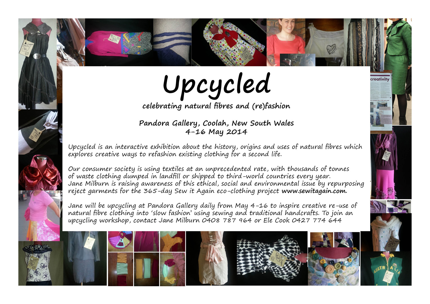 Upcycled exhibition Coolah May 2014