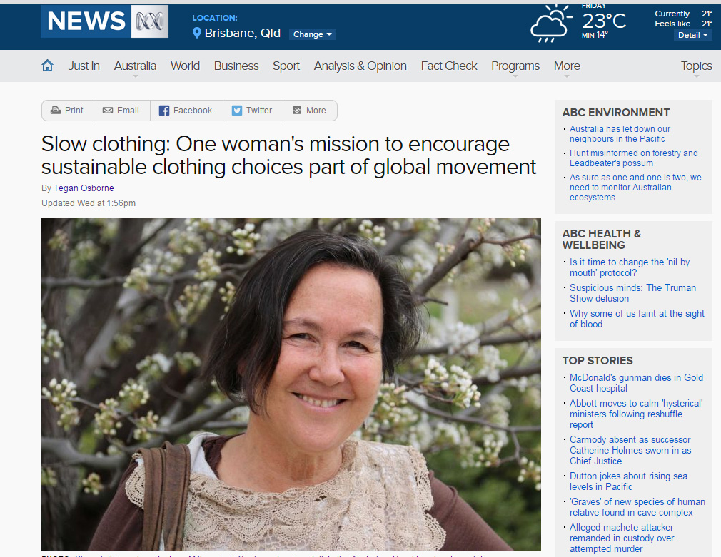 ABC story on slow clothing