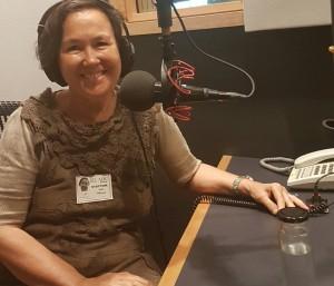 Jane Milburn in ABC tardis studio