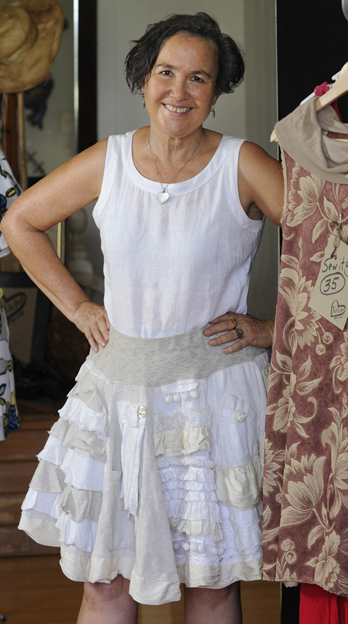 Jane Milburn in her History Skirt