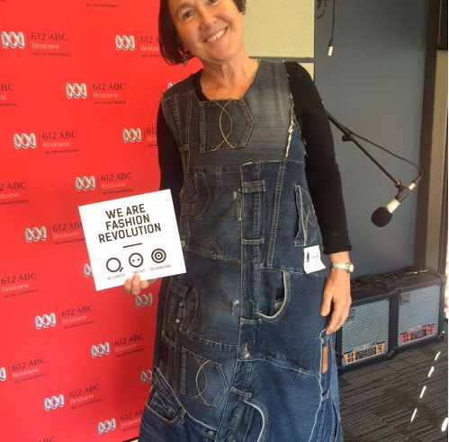 Jane wears Textile Beat upcycled denim