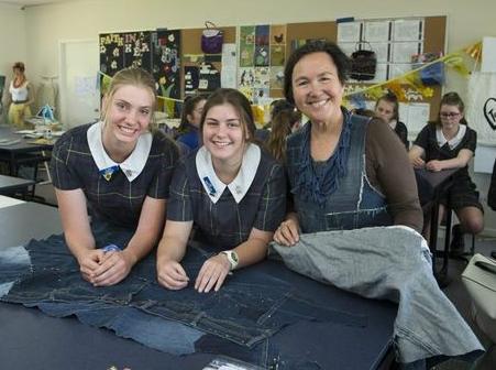 Jane with Fairholme fashion students