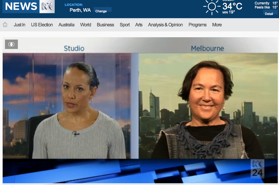 Miriam Corowa and Jane Milburn ABCNews24 January 15 2017