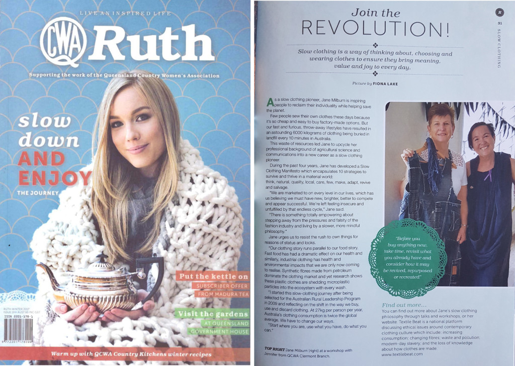 Ruth magazine on slow clothing