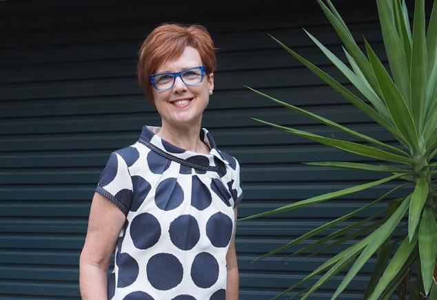 Julie Hillier in Audrey dress horizontal