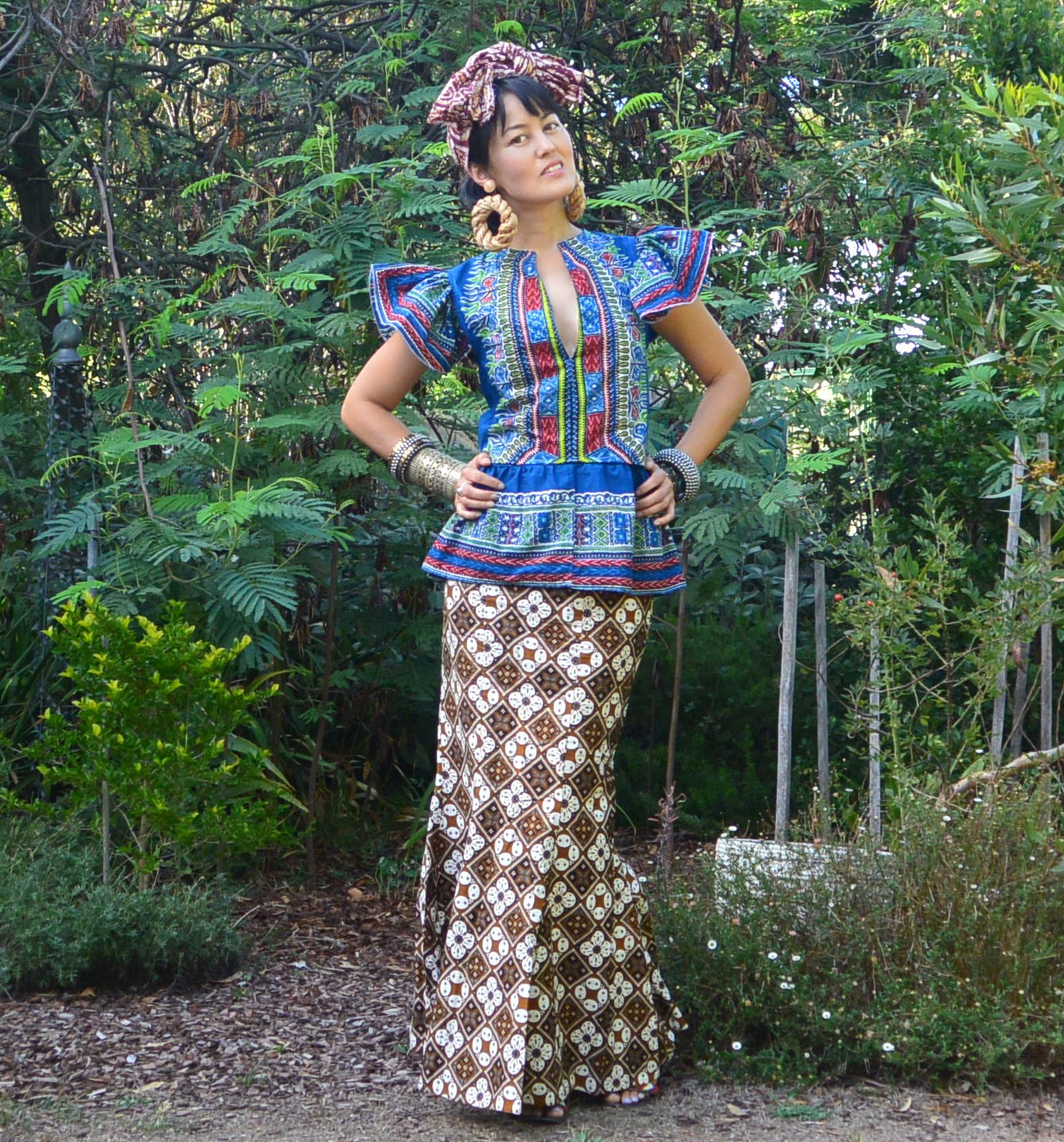 Leeyong Soo wears one of the five garments she created from one caftan for The Slow Clothing Project.