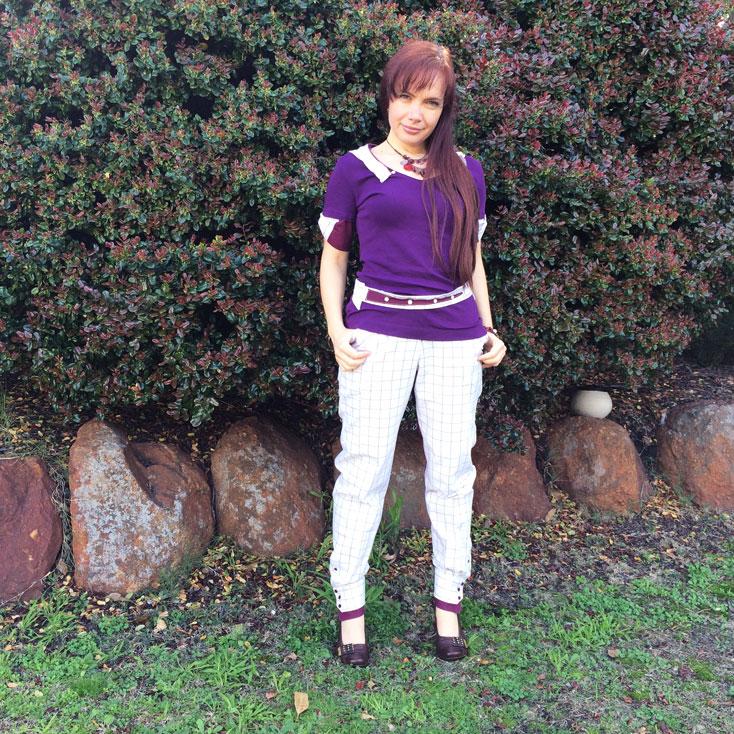 Mariana Kirova creates an eco-fashion statement ensemble for The Slow Clothing Project.