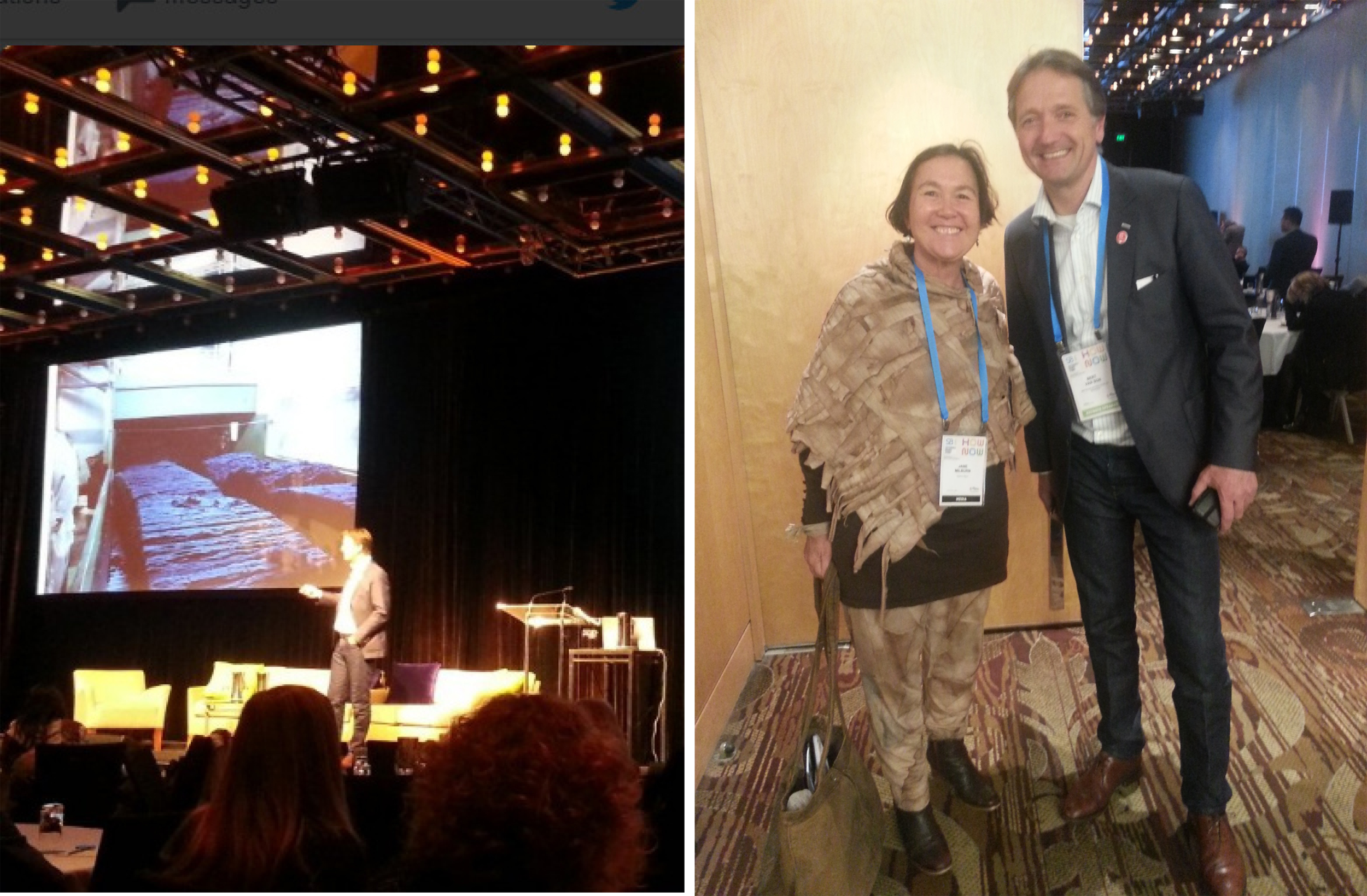 Mud Jeans founder Bert van Son and Textile Beat's Jane Milburn at Sustainable Brands Sydney 2016