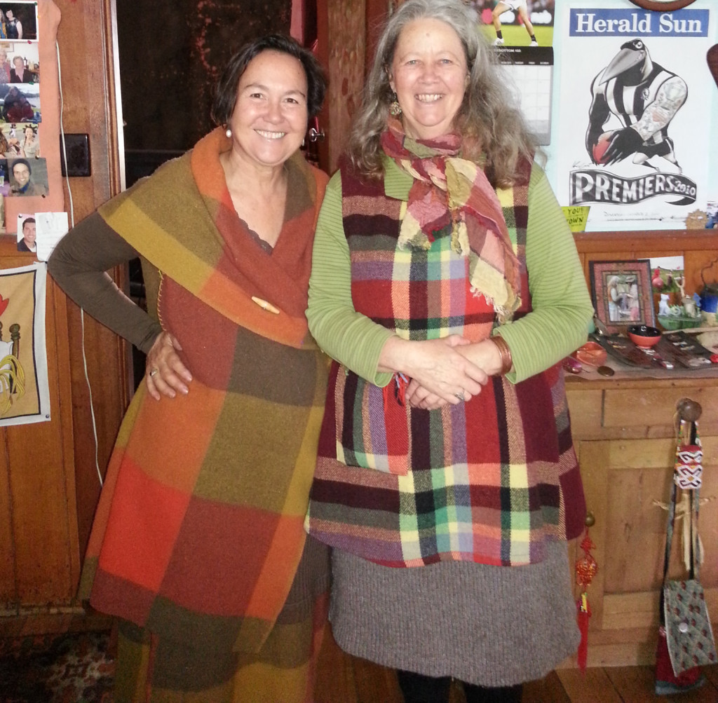 Jane Milburn and Kate Fletcher at Kates home earlier in 2016 cropped