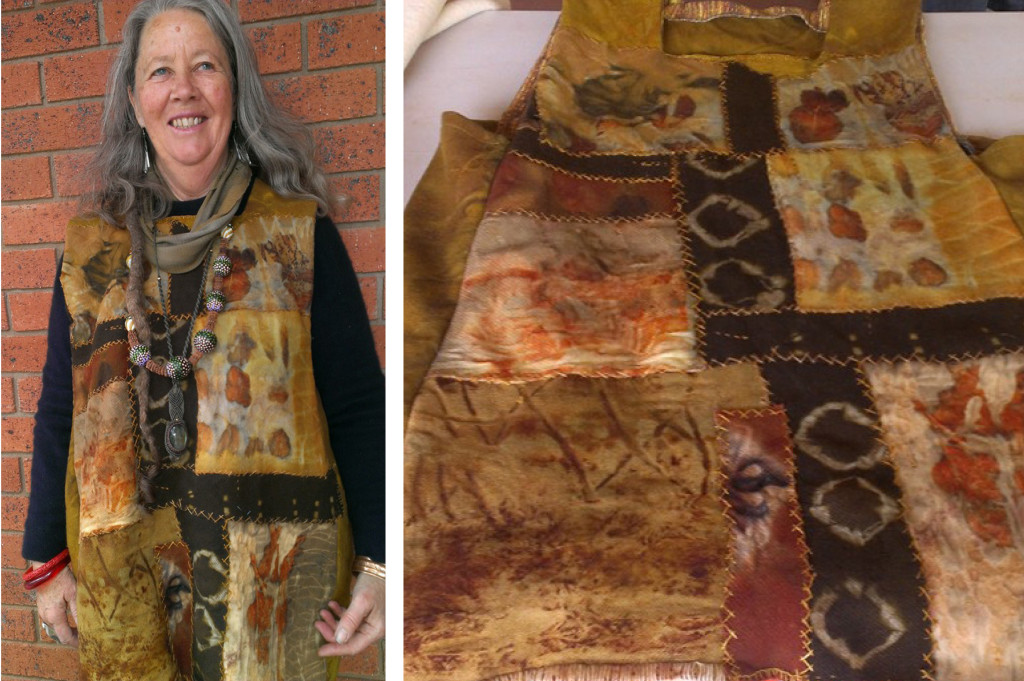 Tasmania's Kate Fletcher wears her story-filled garment hand-stitched as part of The Slow Clothing Project