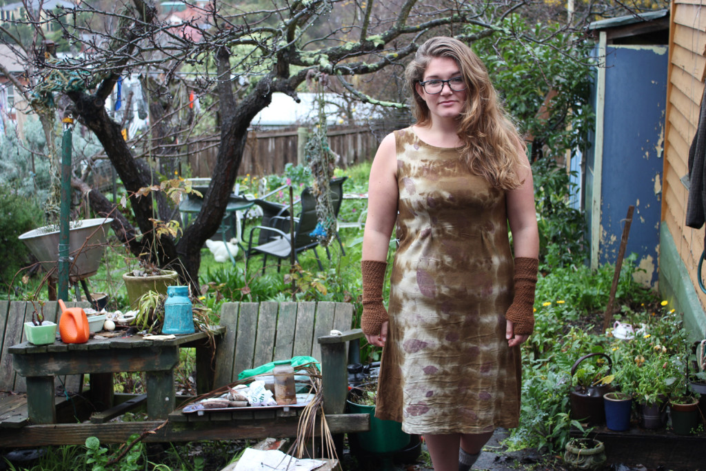 Sarah-Lundgren-wears-her-eco-creation-for-The-Slow-Clothing-Project