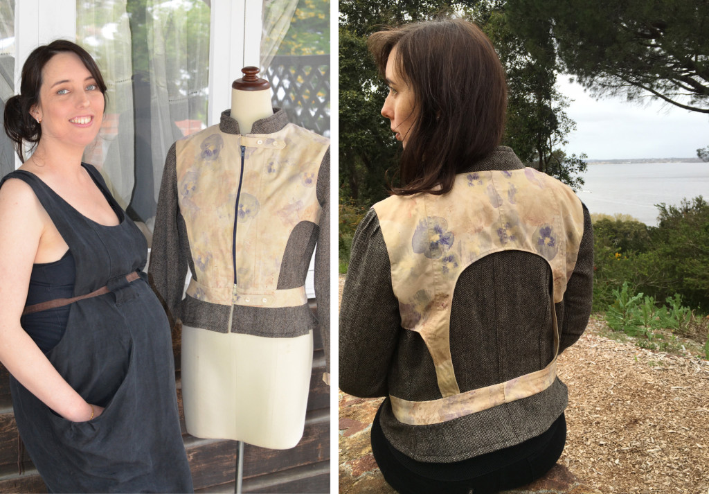 Jemma Edwards created a jacket embellished with bespoke floral prints for The Slow Clothing Project.