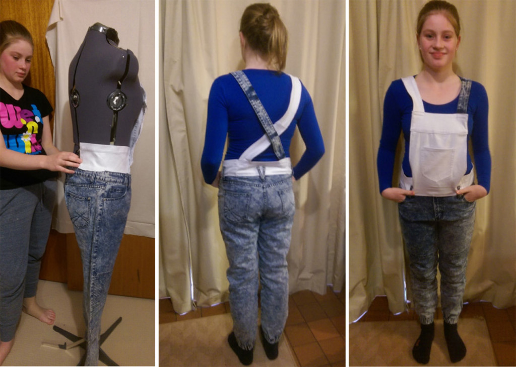 With help from mum Michelle, Grace McRae created her own overalls as part of The Slow Clothing Project